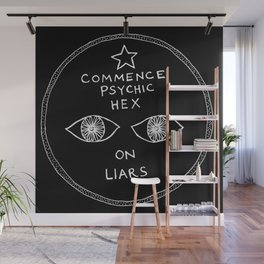 Commence Psychic Hex at Night Wall Mural