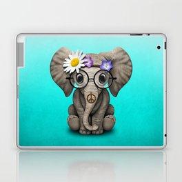 Cute Baby Elephant Hippie Laptop & iPad Skin