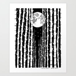 MoonLight Dream Art Print