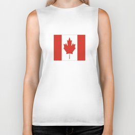flag of canada 1-canadian,canadien,canadiense,ottawa,toronto,montreal. Biker Tank
