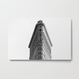Flatiron Black and White NYC Metal Print