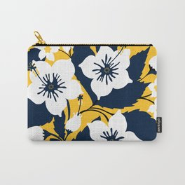 Maze & Blue flowers Carry-All Pouch