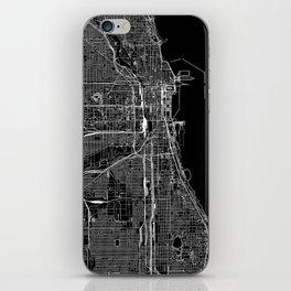 Chicago Black Map iPhone Skin