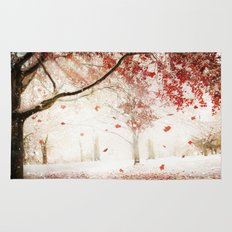 Scarlet and Snow Rug
