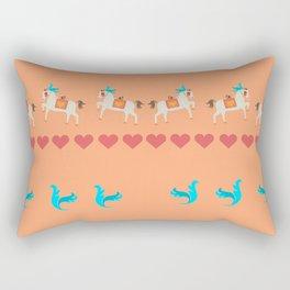 GENTLE  HORSE AND FELLOW BIRD Rectangular Pillow
