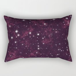 Burgundy Space Rectangular Pillow