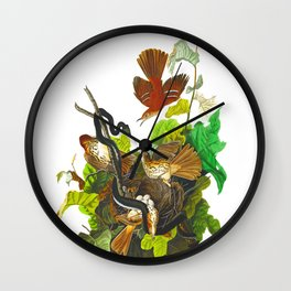 Ferruginous Thrush Bird Wall Clock