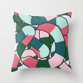Bundle of Snakes Throw Pillow