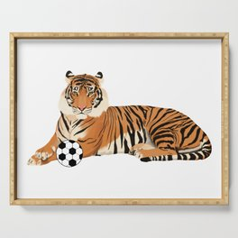 Soccer Tiger Serving Tray