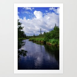 Boundary Waters Entry Point Little Indian Sioux River Bed Art Print