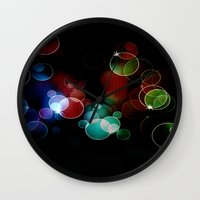 the lights Wall Clocks featuring Lights by Digital-Art