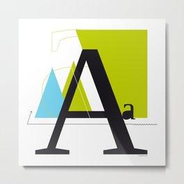 A a Metal Print
