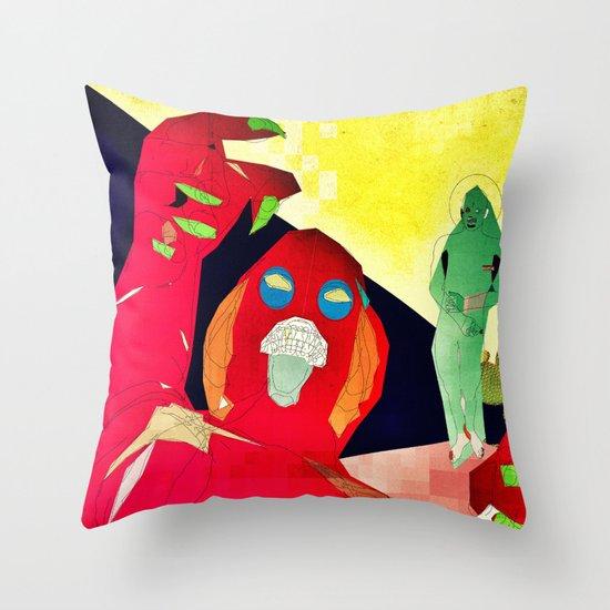 Temptation of Christ in the Desert Throw Pillow