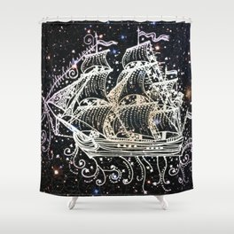 The Great Sky Ship II Shower Curtain