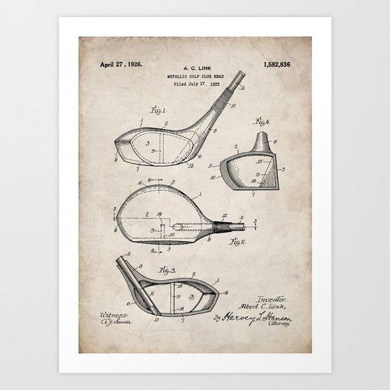 Golf Driver Patent - Golf Art - Antique by patentpress