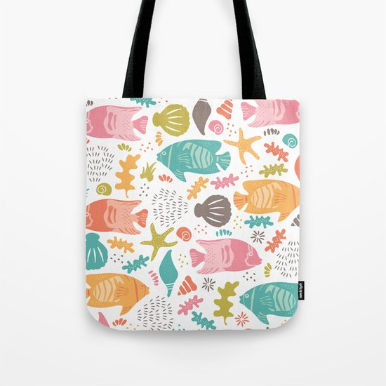 Retro Fish Tote Bag