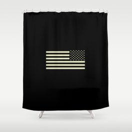 Tactical Flag Shower Curtain