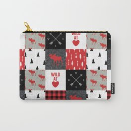 Wild At Heart Lumberjack Quilt Pattern Carry-All Pouch