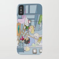 captain hook iPhone & iPod Cases featuring Neverland - baby Peter Pan and Captain Hook by Number Six