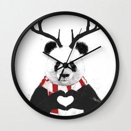 Xmas panda Wall Clock