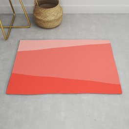 Living Coral Simple Stripes Rug