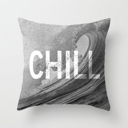 Chill Waves Throw Pillow