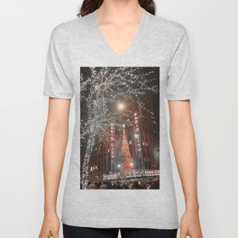 Santa Claus is coming to NYC Unisex V-Neck