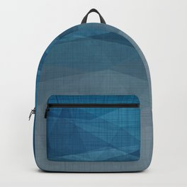 Imperial Blue Triangles Backpack