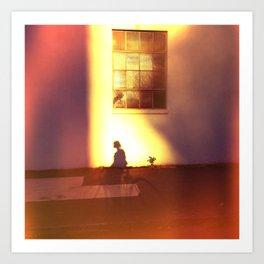the landing of dusk Art Print