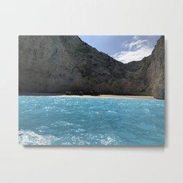 greece shipwreck Metal Print