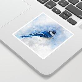 Watercolour blue jay bird Sticker
