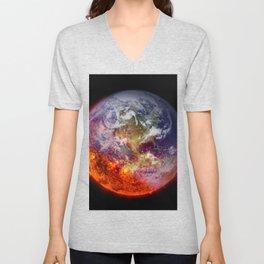 Global Warming Climate Change Unisex V-Neck