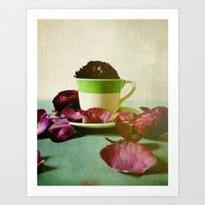 Petals Unfold, Opening to Life Art Print