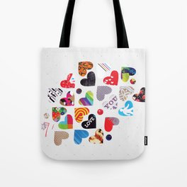Heart Patterns Tote Bag