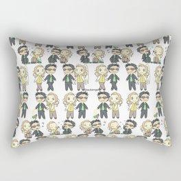 Good Omens Chibis Rectangular Pillow