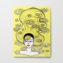 Lemon Grass Metal Print