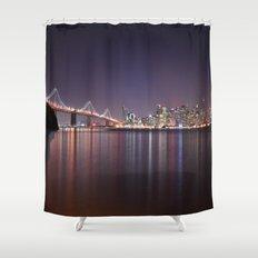 San Francisco Bridge at Night Shower Curtain