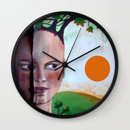 BROKEN EARTH Wall Clock