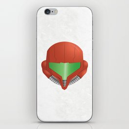 Samus Helmet - Super Metroid white iPhone Skin