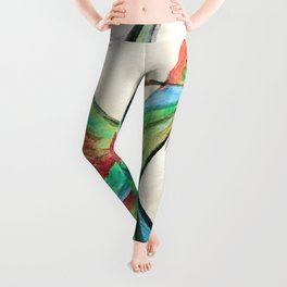 Aquarela bird Leggings