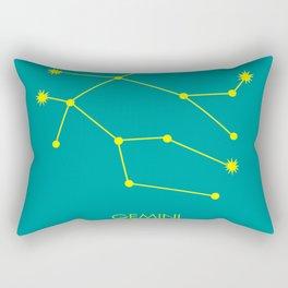 GEMINI (YELLOW-TEAL STAR SIGN) Rectangular Pillow