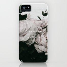 Add Flowers iPhone Case