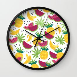 Fresh fruits Wall Clock