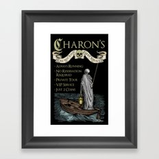 Charon's Ferry Service Framed Art Print