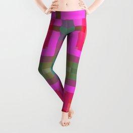 Pink Gold Geometric Leggings