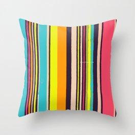 Candy Stripes! Throw Pillow