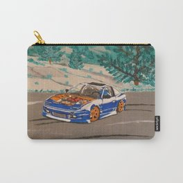 blue nissan 240sx Carry-All Pouch