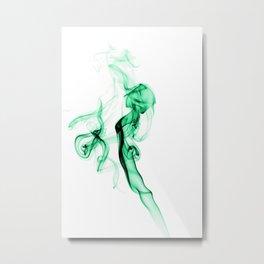 Smoke #4 -- Green Metal Print