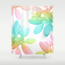 Rainbow Cacti Vibes #1 #pattern #decor #art #society6 Shower Curtain