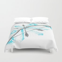 ink bow & arrows Duvet Cover